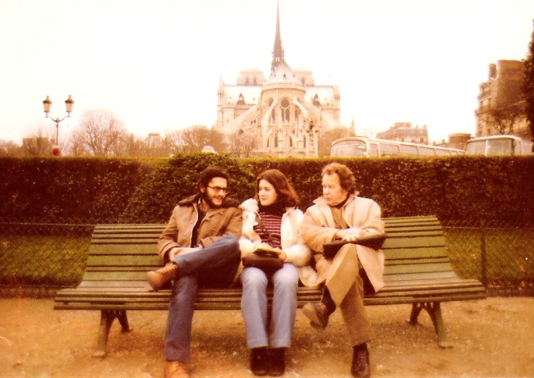 1973. En París con mi tío Fernando y con mi primera mujer, Gloria (2)