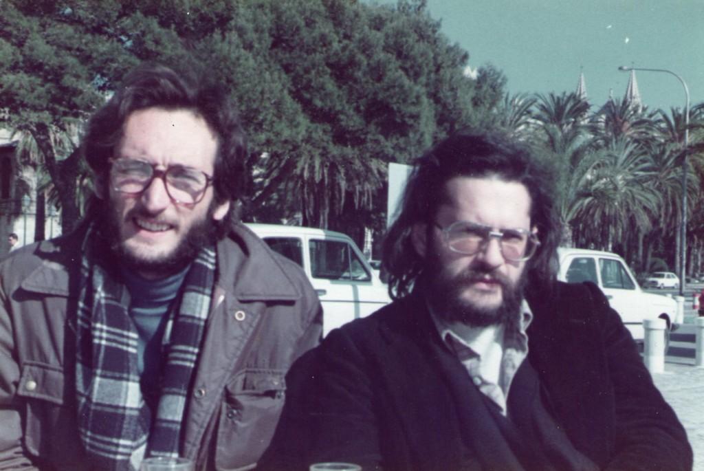 1982.3.5 Con Carlos Garrido en Palma de Mallorca