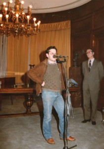 1985.2. Presentación en la SGAE del disco de Mosaico
