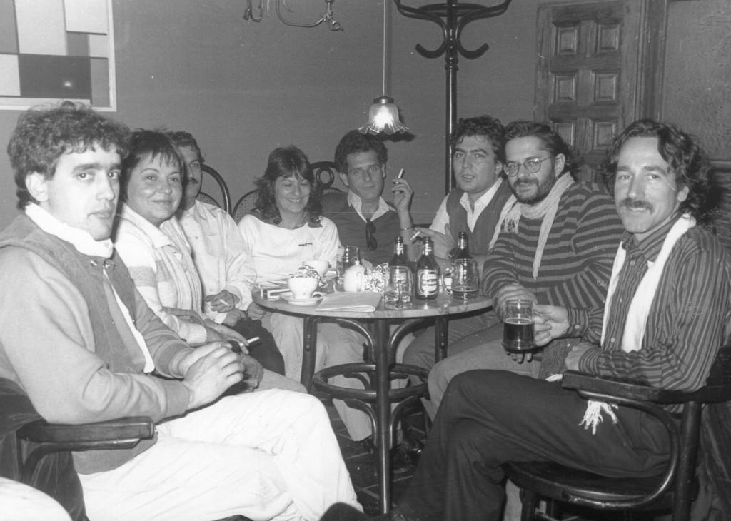 Noviembre 1983. Con Mosaico (Luis y Eliseo Parra), Julia León y Elisa Serna