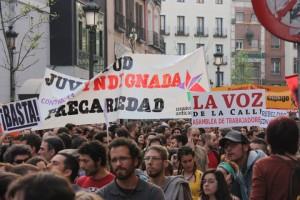 En la manifestación de Juventud sin futuro