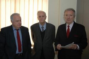 La dirección (de izquierda a derecha) Eugenio Viejo, Lorenzo Contreras y Rodrigo Vázquez de Prada