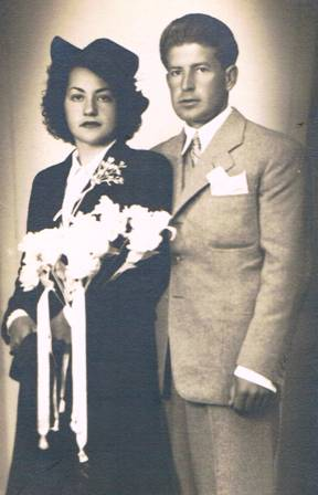 Mis padres, el día de su boda